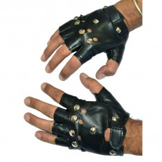 Gants de rockeur noirs