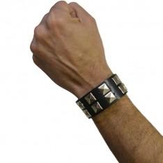 Bracelet de rockeur 2 rangs