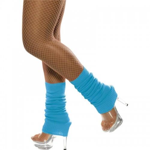 Chaussettes danse 80's fluo bleues