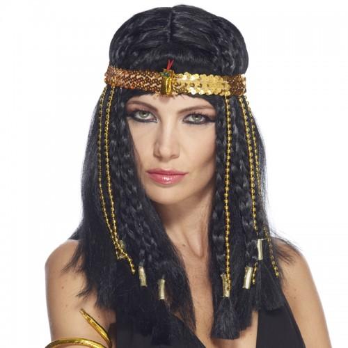 Bandeau égyptien avec serpent et perles