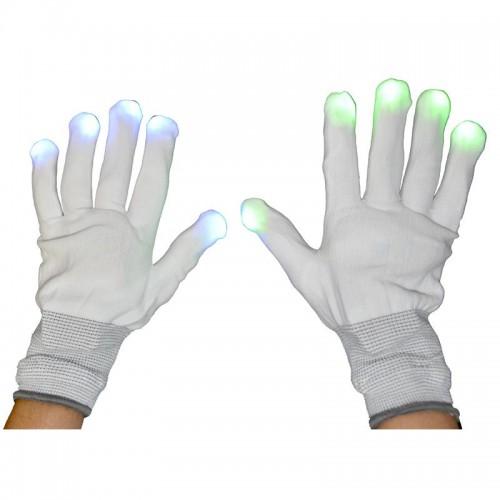 Paire de gants blancs avec led