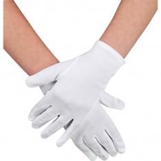 Gants polyester adulte blanc