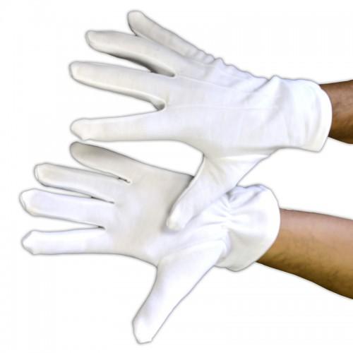 Gants blancs pour homme