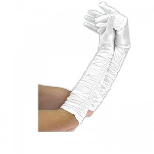 Gants plissés blancs