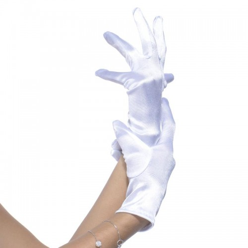 Gants satiné blancs