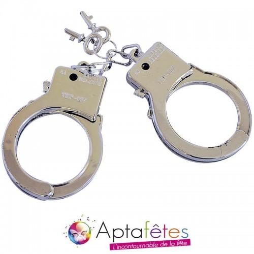 Menottes police avec clefs