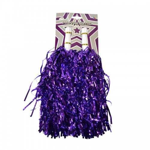 Pompom métal violet