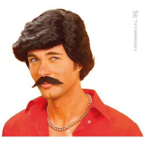 Perruque et moustaches année 70