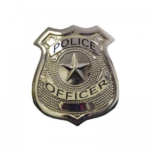 Badge police argent