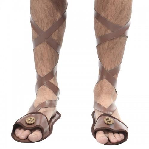 Sandales lanières simili cuir