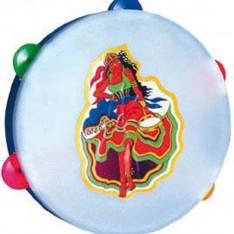Tambourin avec cymbales en plastique