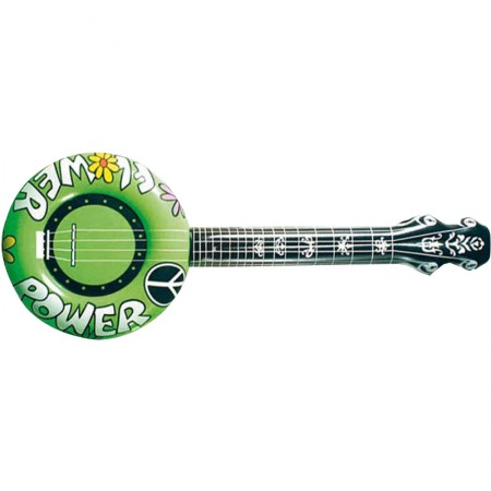 Guitare gonflable hippie