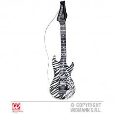 Guitare gonflable zébrée noire et blanche