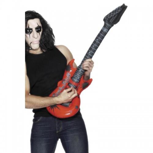Guitare gonflable de rockeur