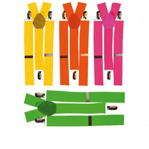 Bretelles élastique fluo