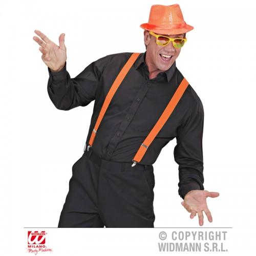 Bretelles élastique orange fluo