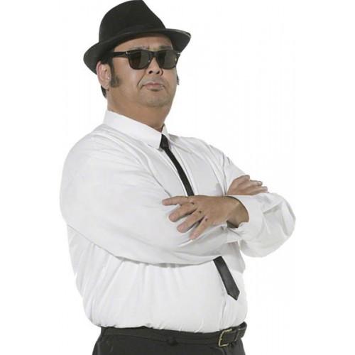 Chemise et cravate noire Blues Brothers