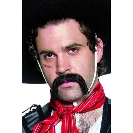 Moustaches noires de mexicain - auto adhésives