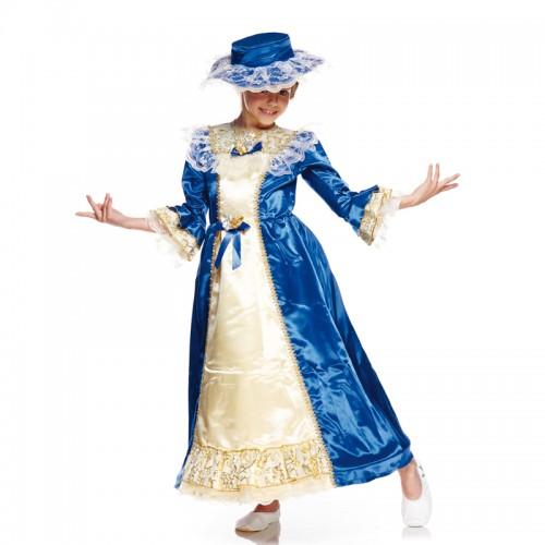 Déguisement grande dame bleue