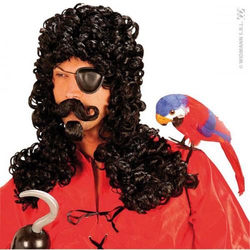 Perruque  de pirate avec moustache