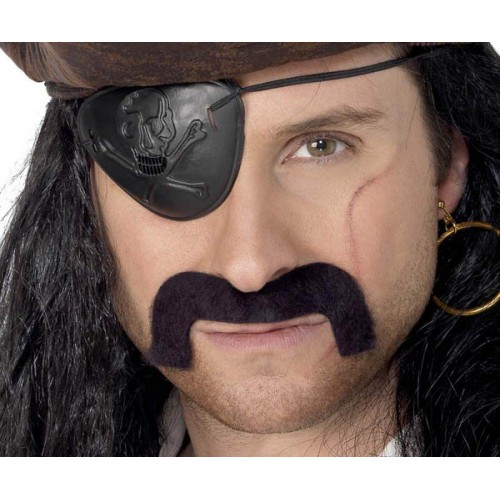 Moustache pirate adhésive