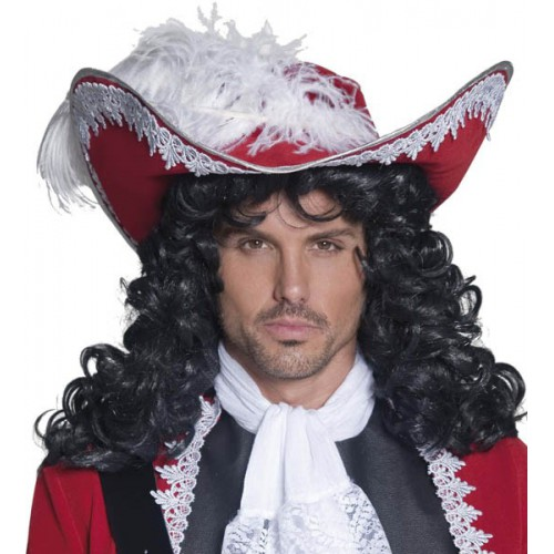 Chapeau de pirate rouge