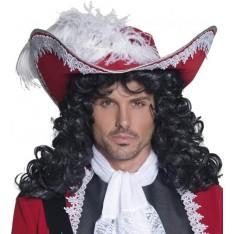 Chapeau de pirate rouge