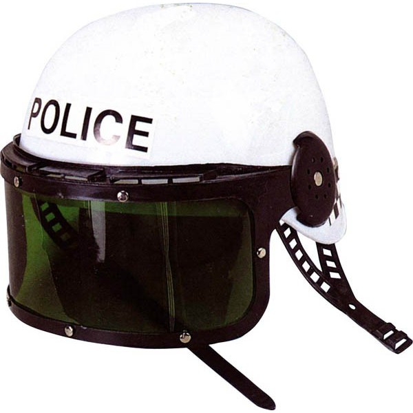 casque de police avec visi re lucky look d guisement. Black Bedroom Furniture Sets. Home Design Ideas