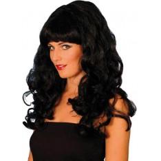 Perruque glam noire