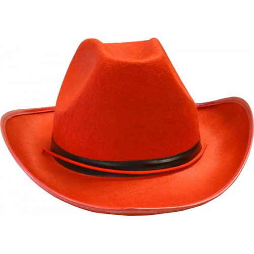 Chapeau cowgirl rouge