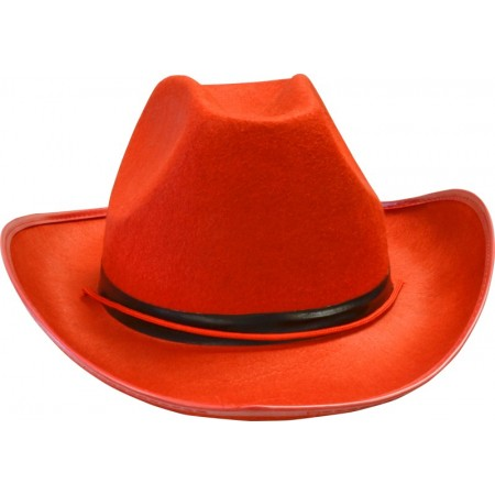 Chapeau cowgirl rouge