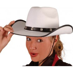 Chapeau cowgirl blanc