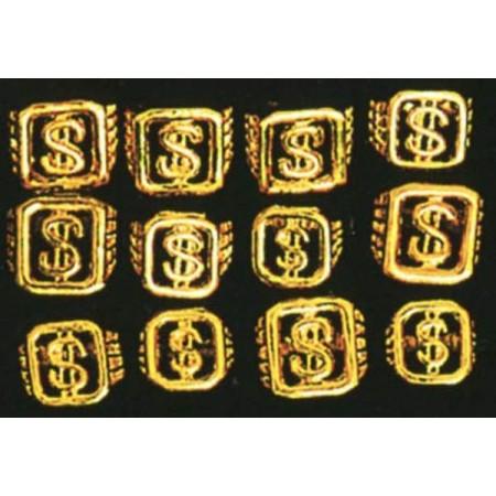 Bague dollar dorée tailles assorties