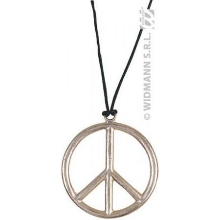 Pendentif peace and love en plastique