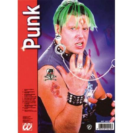 Bijoux Punk (bague tête de mort / chaîne nez oreille)