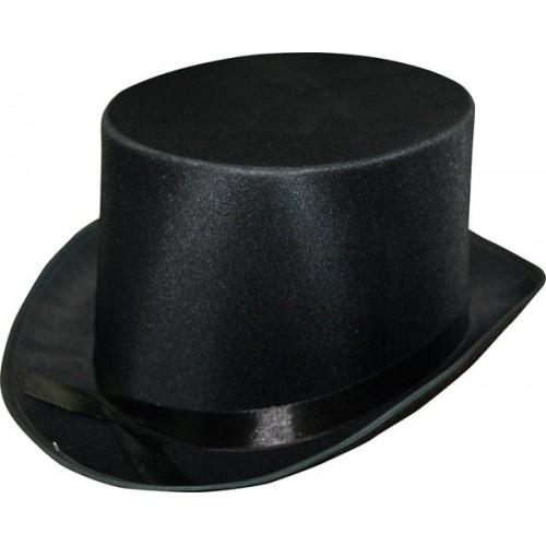 Chapeau haut forme satin