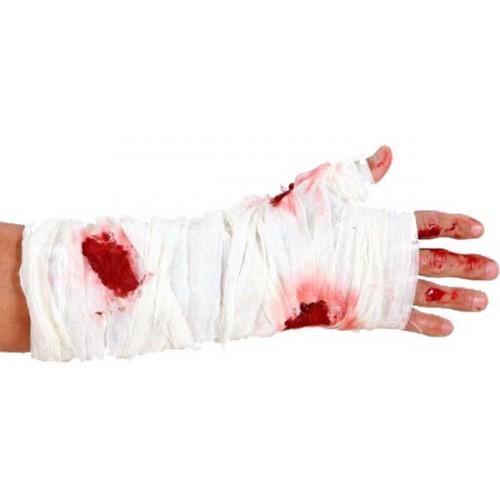 Faux bandage ensanglanté pour bras