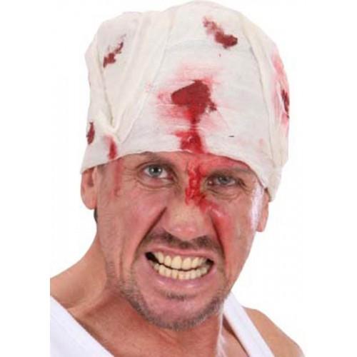 Bandage ensanglanté pour la tête