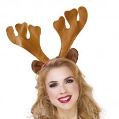 Serre-tête de reine de Noël avec oreilles