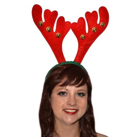 Serre-tête de reine de Noël avec grelots