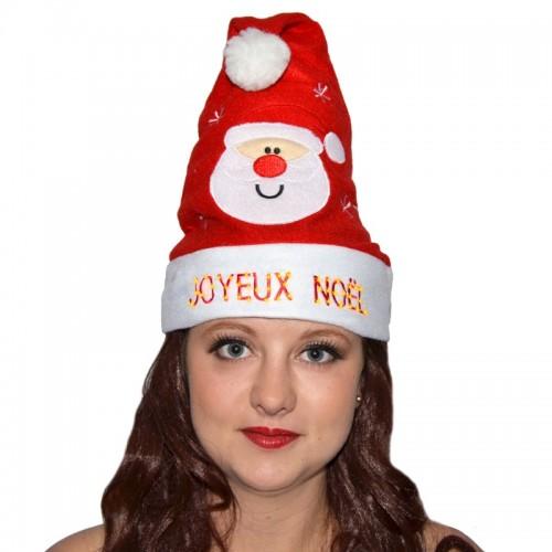 Bonnet lumineux Joyeux Noël adulte