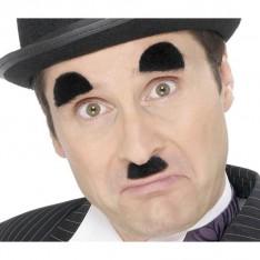 Moustache et sourcils Charlot