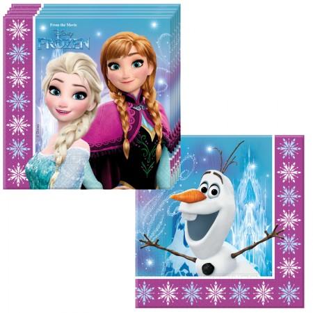 lot de 20 serviettes la reine des neiges
