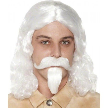 Perruque Buffalo Bill avec barbe et moustache
