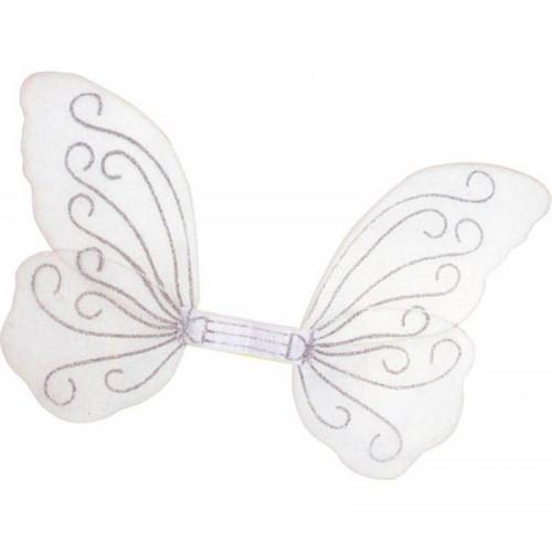 Ailes de papillon blanches et pailletées