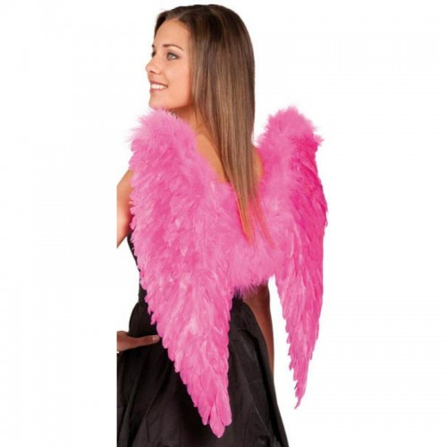 Ailes d'ange plumes fuschia