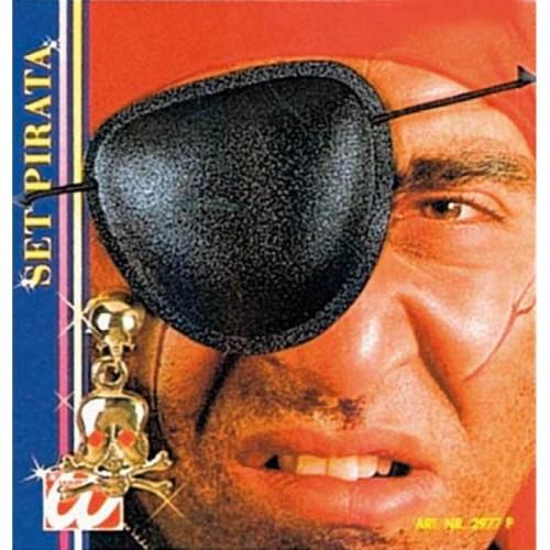 Set bijoux pirate poche oeil, boucle d'oreille