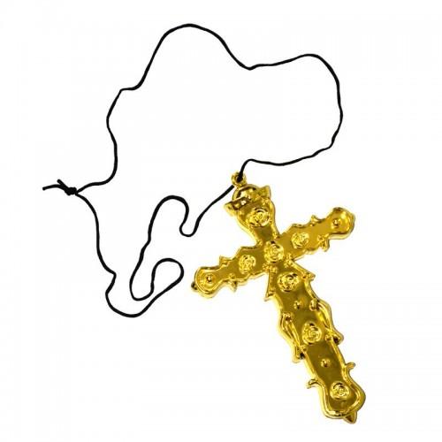 Pendentif croix dorée