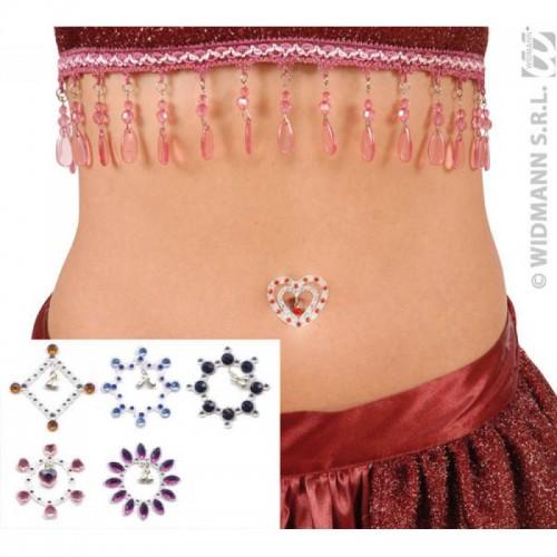 Bijoux strass adhésif pour nombril